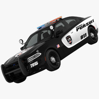 3d dodg charger pursuit model