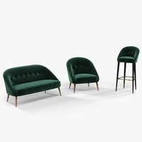 armchair sofa bar chair 3d model