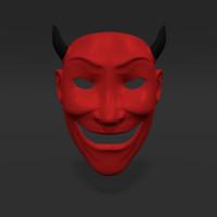 3d asian mask model