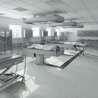 anatomy autopsy laboratory equipment 3d model