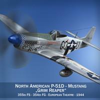 3d model north american - grim reaper