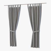 curtain gray 3d c4d