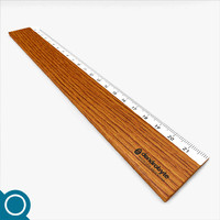 wooden ruler 3d model