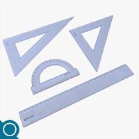 3d plastic rulers