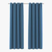 curtain 3 blue 3d model