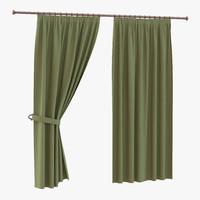 3d curtain 2 green