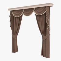 curtain 6 brown 3d model