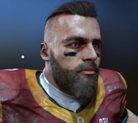 player helmet zbrush 3d model