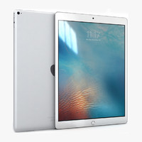 3d model of apple ipad pro silver