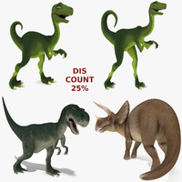 dinosaurs rig 3d 3ds