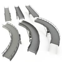 conveyor belt straight curved 3ds
