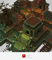 Mayan Temple Starter - Low Poly 3D Model