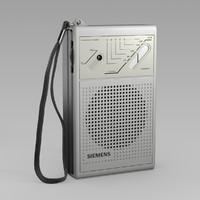 siemens pocket radio 3d model