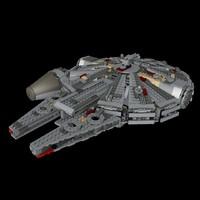 free lego star wars 75105 3d model