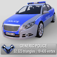 generic police majestic 3d max