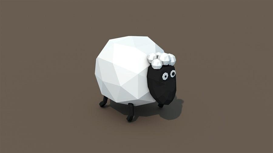3d obj sheep