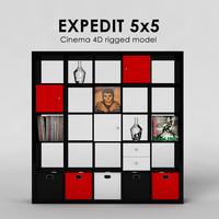ikea expedit 5x5 3d 3ds