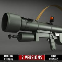 sa-7 grail launcher 3d model