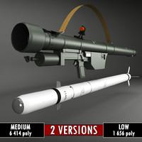 sa-7 gral launcher rocket 3ds