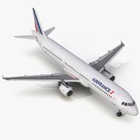 Airbus A321 Air France Rigged