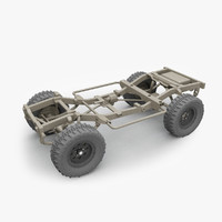 4x4 chassis 3d model