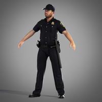 3d security officer model