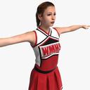 Cheerleader 3D models