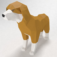 dog low poly style(1)