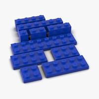 3d model lego bricks set 2