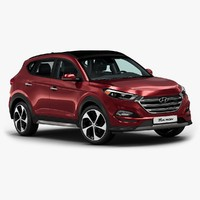 3d 2016 hyundai tucson model