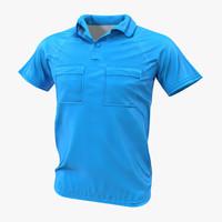 3d pocket t-shirt model