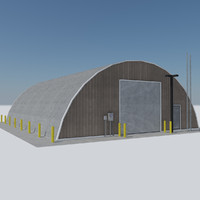 Quonset Military Base - Industrial Hut Barracks 1