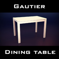 gautier urban table 3d 3ds