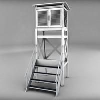 weather station building 3d model