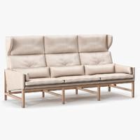 cb-533 wing sofa 3d max