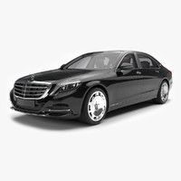 3d model mercedes maybach s600 2016