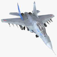 3d russian jet fighter mikoyan model