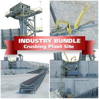 pit plant crushed 3d model