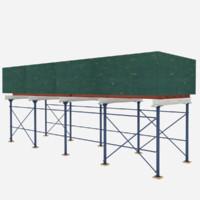 3d sidewalk shed model