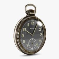 vintage pocket watch 3d obj