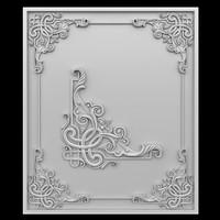 Celtic pattern corner element.
