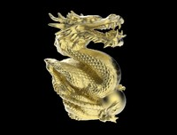 obj dragon statue