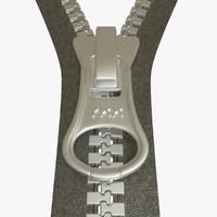 clothing zipper 3d max