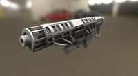 Rail Gun High Poly Version