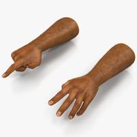 3d african man hands 2