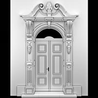 Classical arch door.