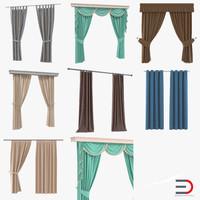 curtains set design 3ds