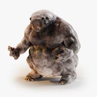 3d model fantasy creature monster anthony