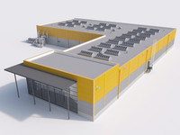 industrial building 16 3d ma