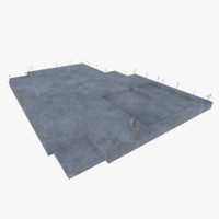 3d model of subdivision building foundation